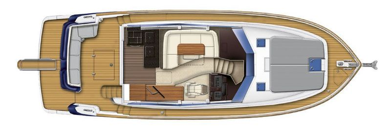 Azimut magellano 43 cs yachting for Innenarchitekt yacht