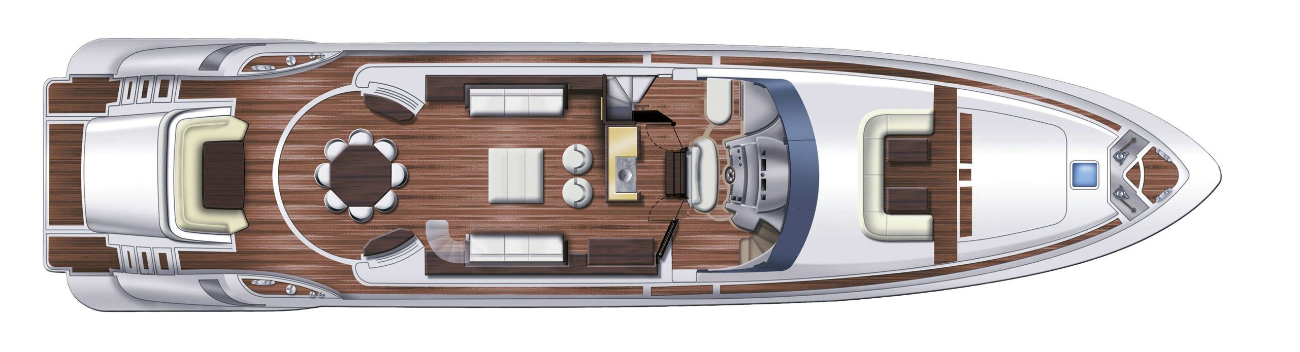 Azimut 100 leonardo cs yachting for Innenarchitekt yacht