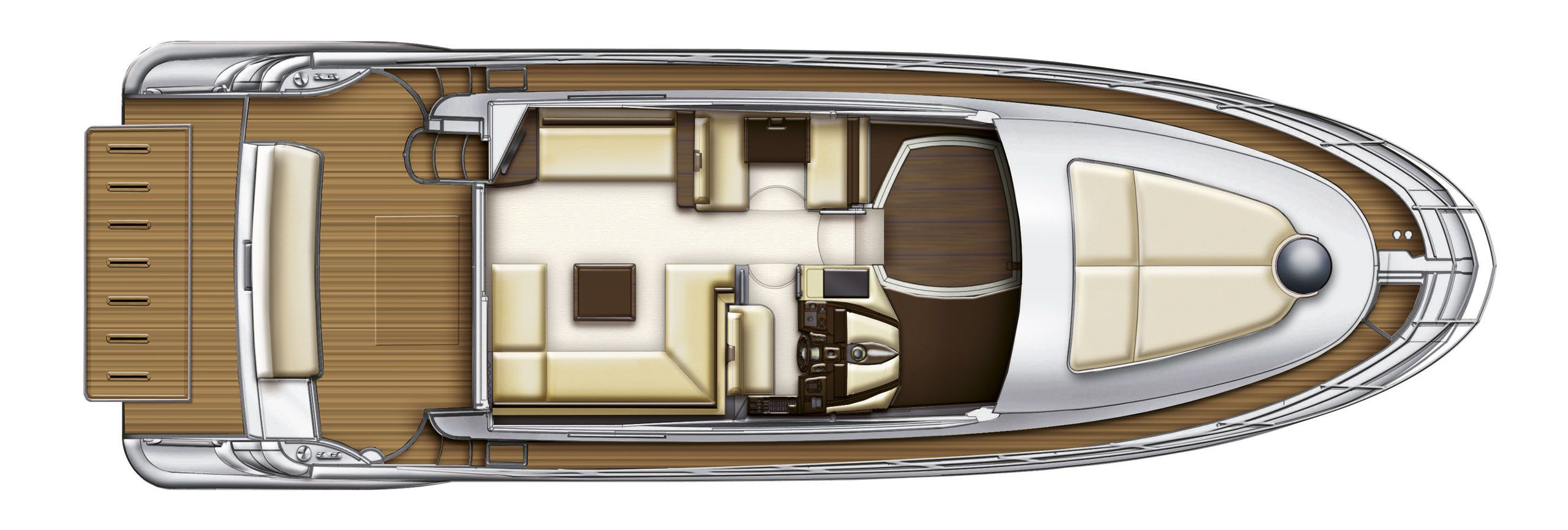 Azimut 48 cs yachting for Innenarchitekt yacht