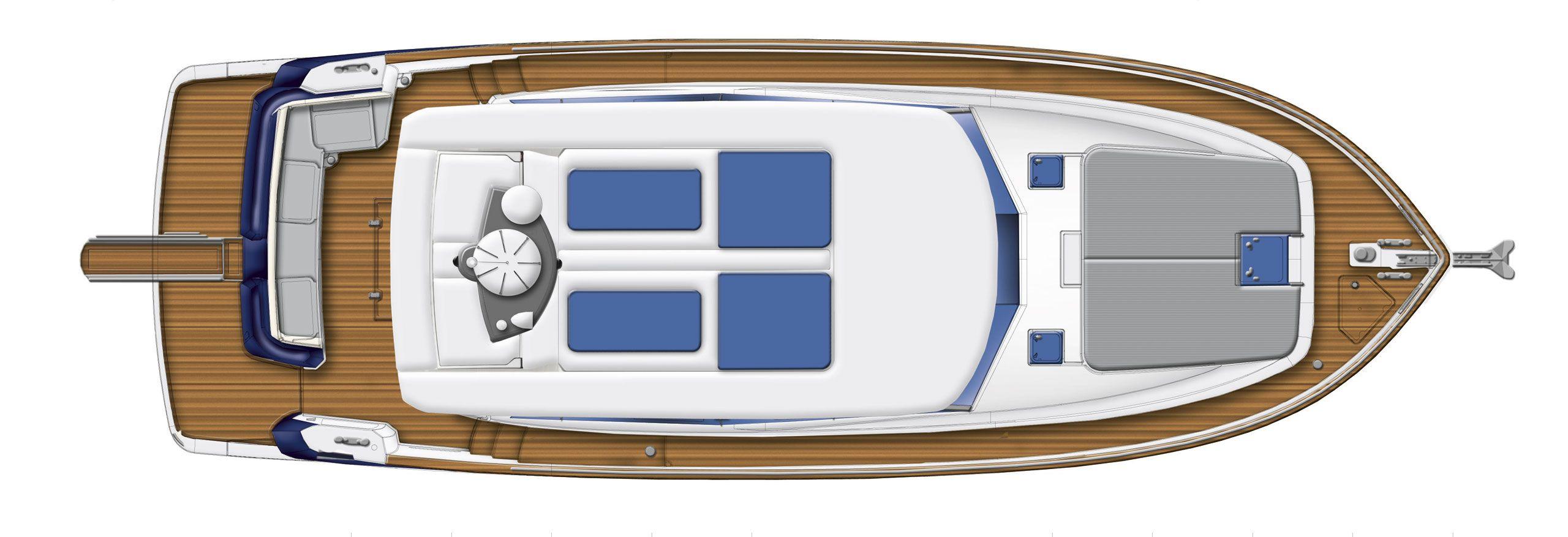 Azimut magellano 43ht cs yachting for Innenarchitekt yacht